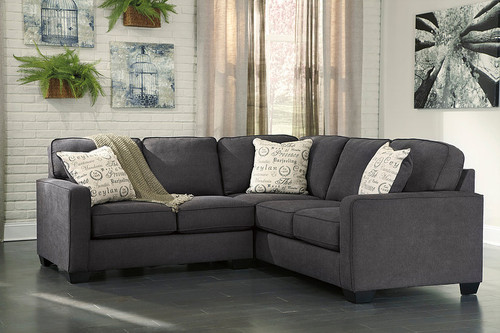 ALENYA CHARCOAL COLLECTION SECTIONAL SET-16601-55-67
