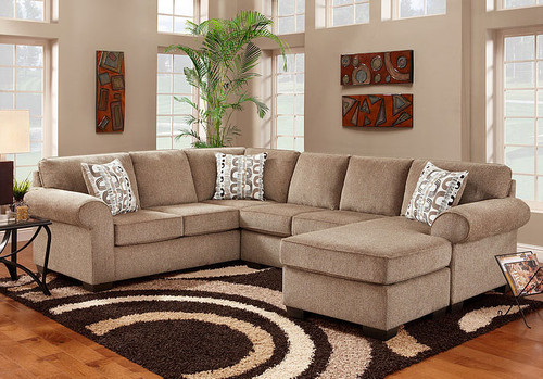 JESSE COCOA COLLECTION 3PCS SECTIONAL SET-S3050-CO