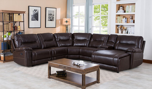 CECY BROWN COLLECTION 6PCS SECTIONAL SET-S9917