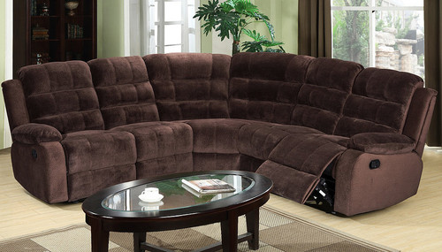 LYDIA RECLINING LOVESEAT 3PCS SECTIONAL WITH WEDGE-S9055