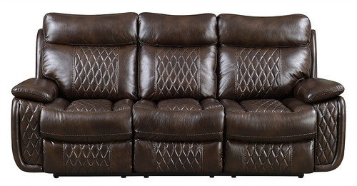 2PCS TEXAS BROWN RECLINING SOFA AND LOVESEAT SET-S7260-B