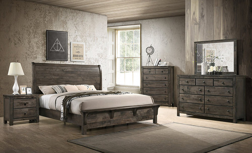 FARMHOUSE RUSTIC GREY BEDROOM COLLECTION-B2110