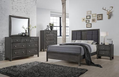 ERICA DARK GREY BEDROOM COLLECTION-B1600-N