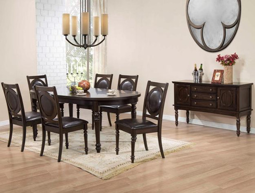 """5 PCS LYLA COLLECTION DINING GROUP (TABLE 1 X 18"""" LEAF)"""