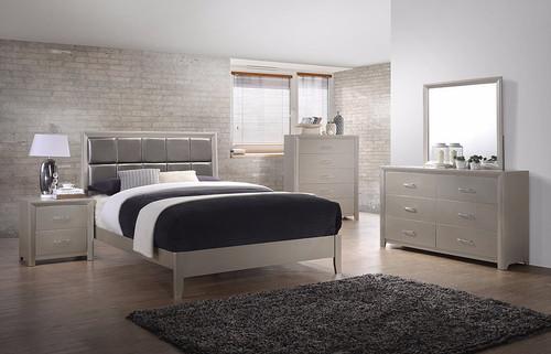 CRYSTAL CHAMPANGE BEDROOM COLLECTION-B1060