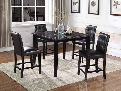 5PCS NIKITA COUNTER HEIGHT TABLE SET-D1121