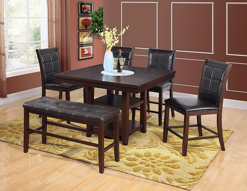 5PCS TYSON II COUNTER HEIGHT TABLE SET-D2114-9912
