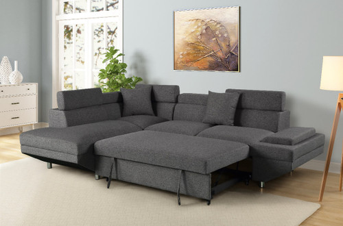 MIAMI COLLECTION SLEEPER SECTIONAL IN GREY