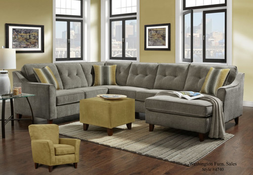 SYDNEY GREY COLLECTION SECTIONAL SET-4740-Grey