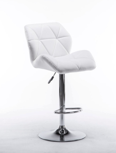 ADJUSTABLE 2 PIECES BUCKET SEAT WHITE BAR STOOL-HHC2201-Wht