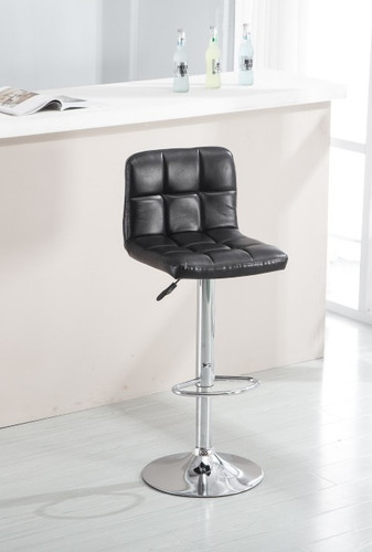 ADJUSTABLE 2 PIECES BLACK ARMLESS BARSTOOL-HH0269