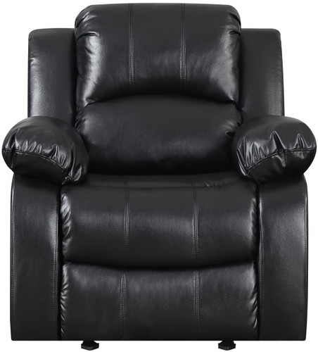 BONDED LEATHER BLACK ROCKER RECLINER-110100-R