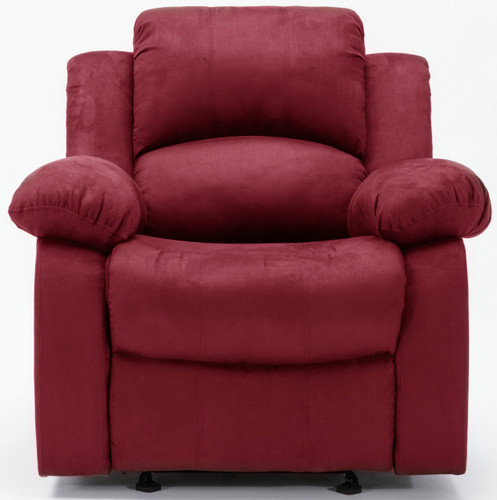 ONDED LEATHER RED ROCKER RECLINER-HH8110-R