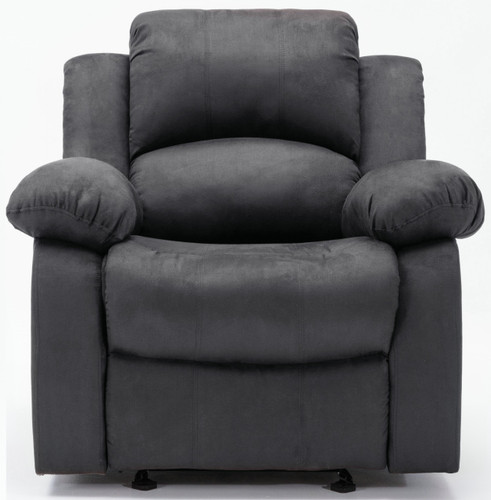 BONDED LEATHER GREY ROCKER RECLINER-HH8210