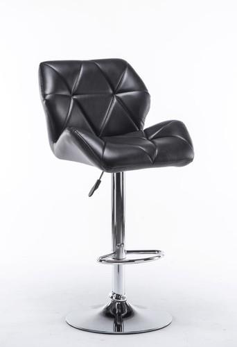 ADJUSTABLE 2 PIECES BUCKET SEAT BLACK BAR STOOL-HHC2201-Blk