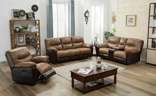 Awe Inspiring 3Pc Brantley Two Tone Leather Reclining Set Kassa Mall Ocoug Best Dining Table And Chair Ideas Images Ocougorg