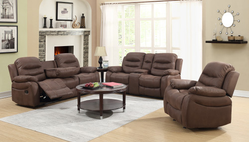3PCS LORENZO COLLECTION SOFA LOVESEAT AND RECLINER SET-9265