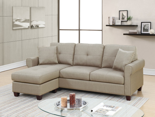 2PC LUCA REVERSIBLE SECTIONAL SET IN BEIGE-F6572