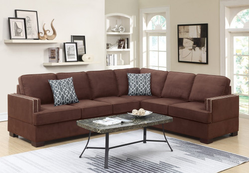 2PC FLAVIO SECTIONAL SET IN CHOCOLATE-F6598