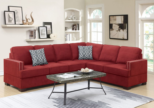 2PC FLAVIO SECTIONAL SET IN RED-F6599