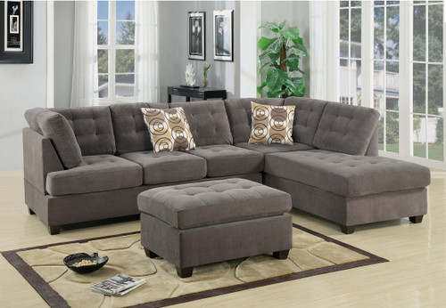 2PC MAURO SECTIONAL SET IN CHARCOAL-F7139