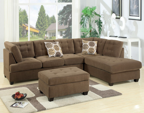 2PC MAURO SECTIONAL SET IN TRUFFLE-F7140