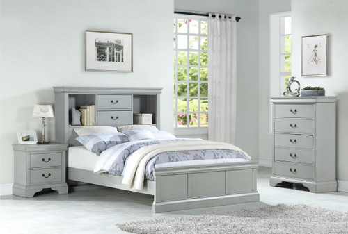 ADONIS DESIGN TWIN/FULL BED IN GREY-F9423