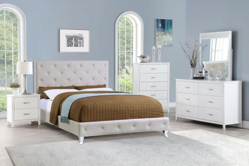 NERO FULL/QUEEN SIZE BED IN LIGHT GREY-F9419