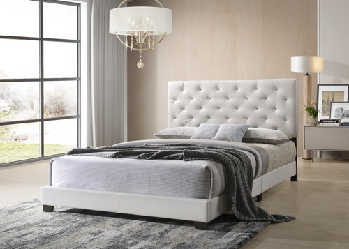 CELSO PEARL WHITE PU COLLECTION BED-HH2018