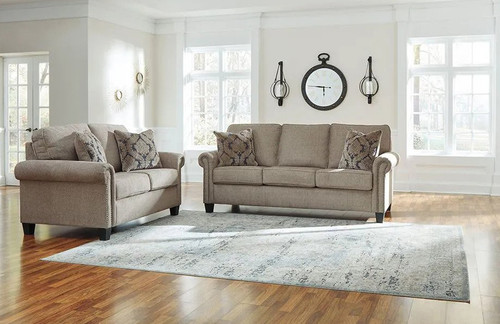 2 PCS BAISLEY PEWTER SOFA & LOVESEAT-49400-38-35