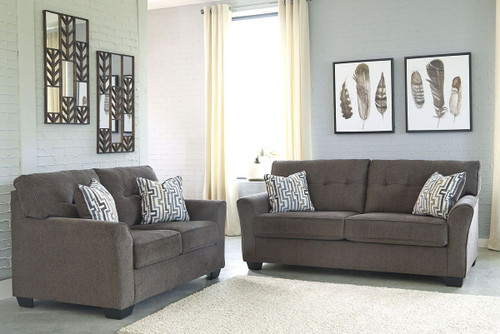 2 PCS AGLENO CHARCOAL SOFA & LOVESEAT-78701-38-35