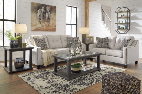 2 PCS MARRERO FOG SOFA & LOVESEAT-23702-38-35