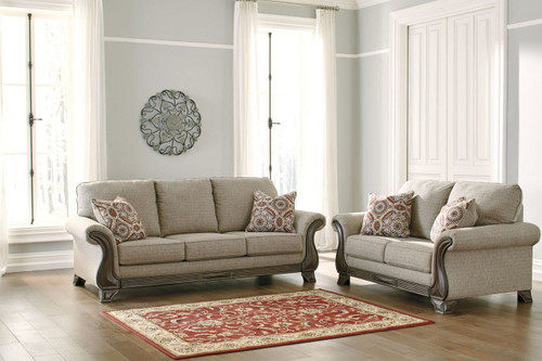2 PCS CLAREMORRIS FOG SOFA & LOVESEAT-18003-38-35