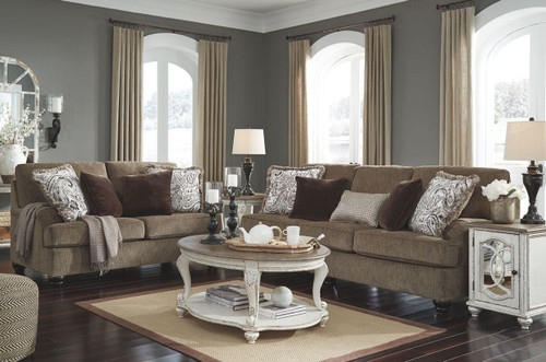 2 PCS BRAEMAR BROWN SOFA & LOVESEAT-40901-38-35