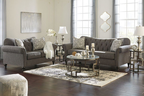 2 PCS PRAYLOR SLATE SOFA & LOVESEAT-48901-38-35