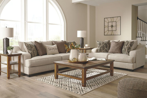 2 PCS MARCIANA BISQUE SOFA & LOVESEAT-20901-38-35
