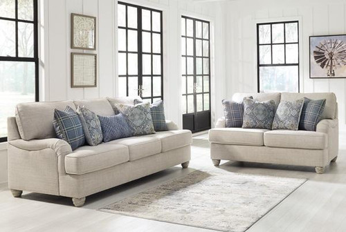 2 PCS TRAEMORE LINEN SOFA & LOVESEAT-27403-38-35