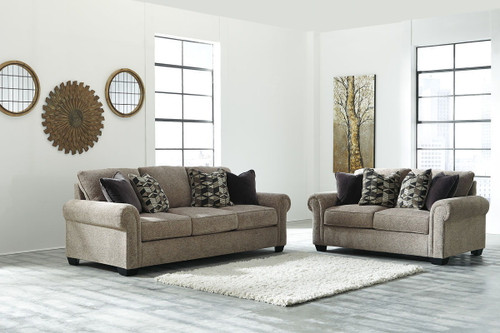 2 PCS FEHMARN TOFFEE SOFA & LOVESEAT-27703-38-35