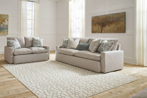 2 PCS MELILLA ASH SOFA & LOVESEAT-28302-38-35