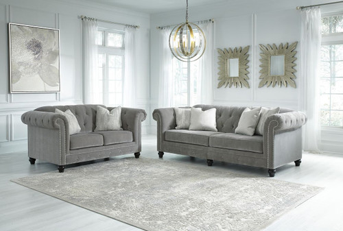 2 PCS TIARELLA ASH SOFA & LOVESEAT-72901-38-35