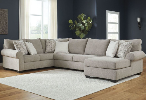 3 PC BARANELLO STONE SECTIONAL SET-51503-48-34-17