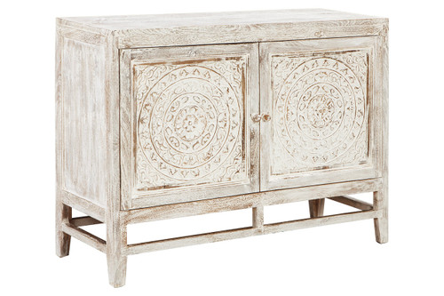 FOSSIL RIDGE LIGHT BROWN ACCENT CABINET-A4000038