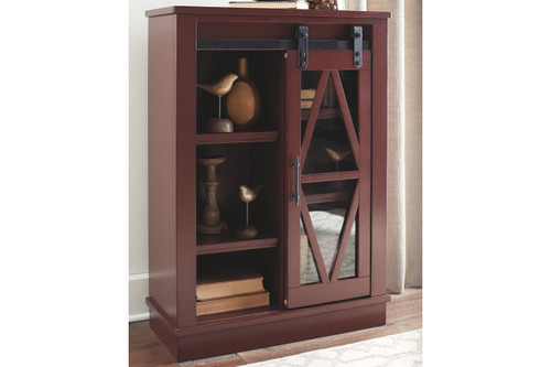 BRONFIELD RED ACCENT CABINET-A4000134
