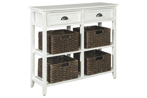 OSLEMBER WHITE SOFA / CONSOLE TABLE-A4000139