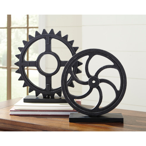 DERMOT ANTIQUE BLACK SCULPTURE (SET OF 2)-A2000254