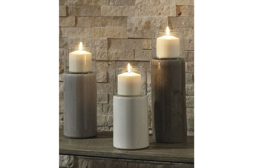 DEUS CANDLE HOLDER (SET OF 3)-A2000352