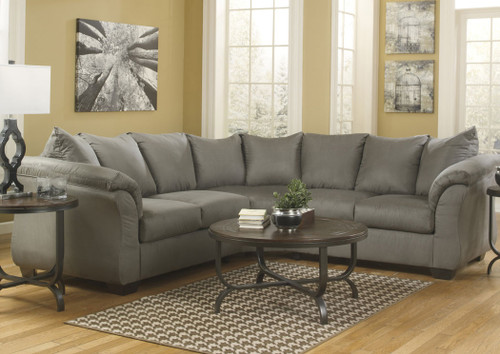 2 PCS DARCY COBBLESTONE COLLECTION SECTIONAL SET-75005-55-56