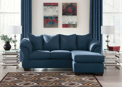 DARCY BLUE SOFA CHAISE-75007-18