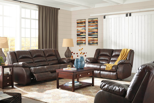 2PC LEVELLAND CAFE SOFA AND LOVESEAT RECLINING SET-17001-88-86