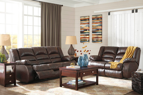 2PC LEVELLAND CAFE POWER SOFA AND LOVESEAT RECLINING SET-17001-87-74